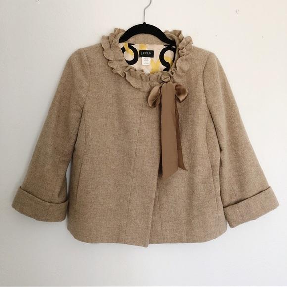 J. Crew Jackets & Blazers - [J Crew] Brown Cheshire Wool Coat Jacket Size 8P